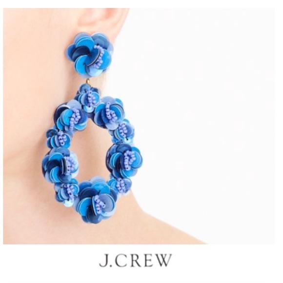 62f628b9fa8 J. Crew Jewelry - J.Crew Leather-Backed Sequin Petal Earrings
